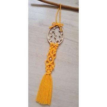 Wielkanocna makrama handmade stroik pisanka
