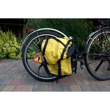 Przyczepka rowerowa Extrawheel z sakwami