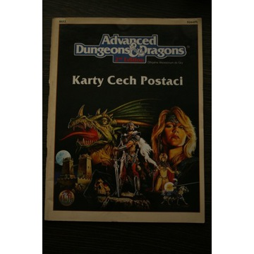 Dungeons & Dragons AD&D 2nd ed. Karty cech postaci