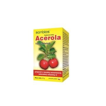 Acerola C naturalna witamina C Sanbios 100 tab.