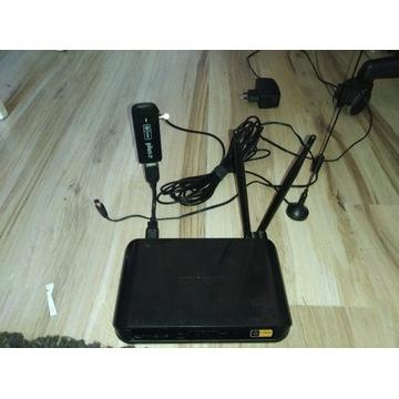 Modem + router + antena