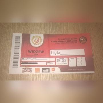 Bilet Widzew Łódź - Legia Warszawa z marca 2008 r.