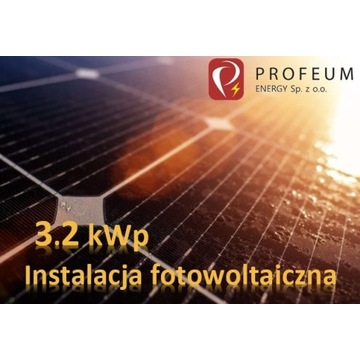 Instalacja FOTOWOLTAIKA 3,2 kWp wraz z montażem!