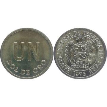Peru 1 sol de oro 1976, KM#266.1