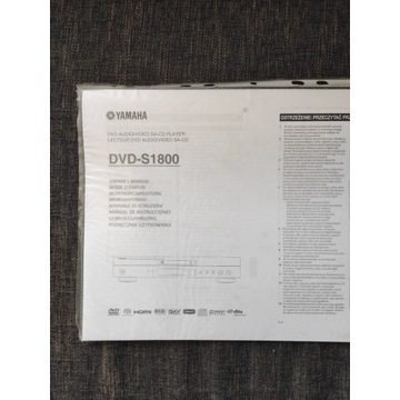 Yamaha DVD-S1800 instrukcja PL