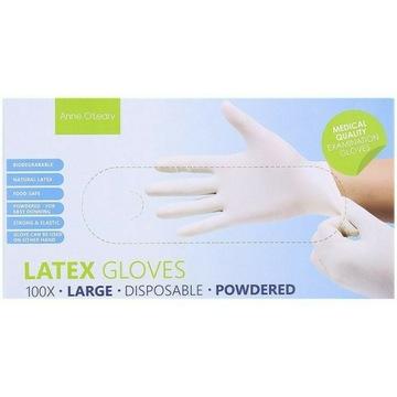 Rękawice lateksowe Rozmiar L | 100 sztuk