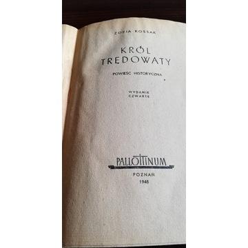 "Książka ""Król Trędowaty"" wyd, Pallotinum 1948r."