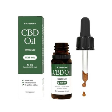 3x Green Leaf CBD Oil 10% - Czysty Olej Konopny