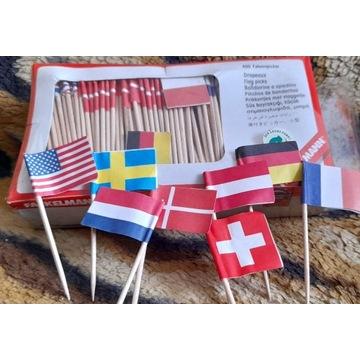 wykałaczki flagi - 200 szt , zapakowane, nowe