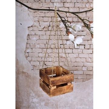 Doniczka  skrzynka drewniana