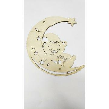 Baza obręcz księżyc makrama łapacz