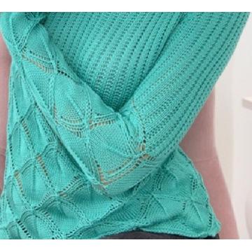 Ażurowy sweter rozmiar L
