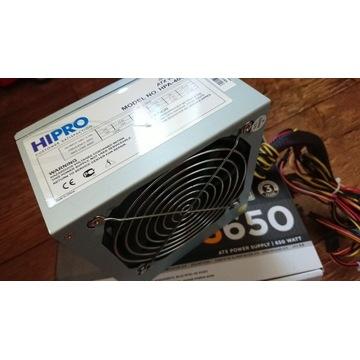 Zasilacz PC Hipro 400w Sprawny w 100% 6pin GPU