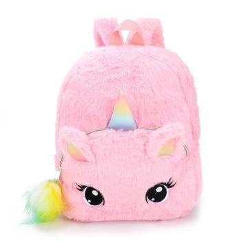 Cały pluszowy plecak jednorożec w kolorze różowym