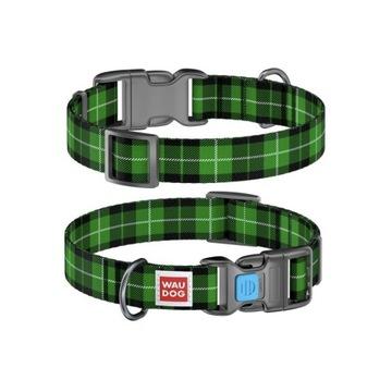 WauDog NYLON Xs i S-obroża Green tartan+ Smart ID