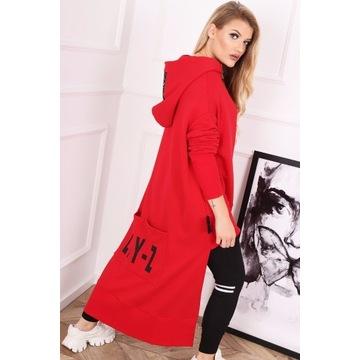 Asymetryczna bluza Lay-Z czerwona