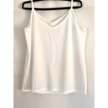 Biała bluzka na ramiączkach roz. M