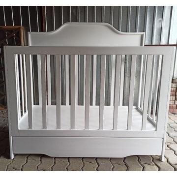 łóżeczko niemowlęce drewniane 120x60