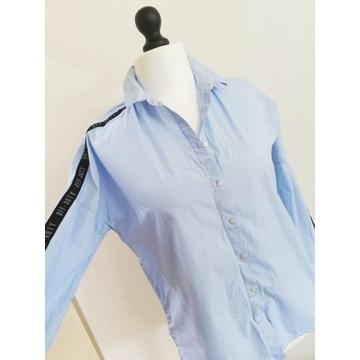 44 46 oversize stradivarius błękitna koszula (2)