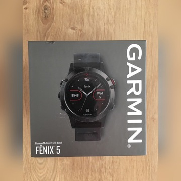 Smartwatch Garmin Fenix 5,gwarancja do 25.06.22r.