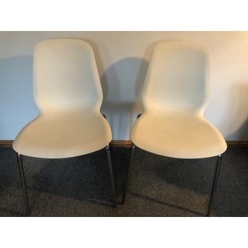 Białe krzesła, białe krzesło Ikea Leifarne 2 szt.