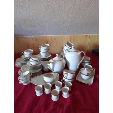 Porcelanowy serwis herbaciano-kawowy sygnowany