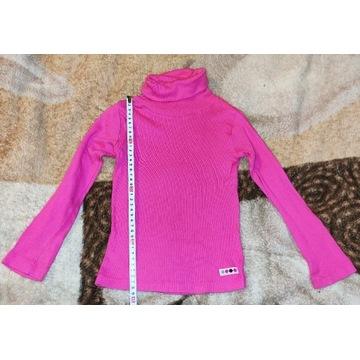 Różowy cienki sweterek golf