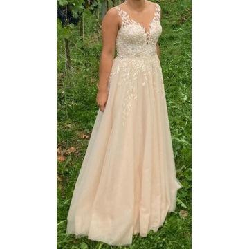 Suknia ślubna Patrizia w kolorze brzoskwiniowym