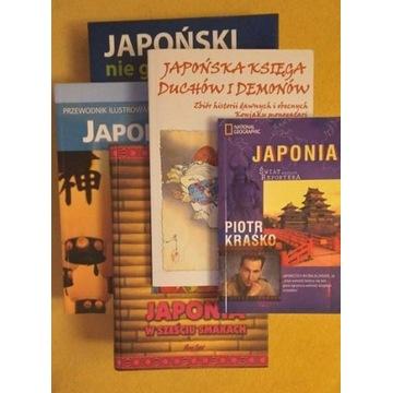 Pakiet do nauki japońskiego + 4 książki o Japonii