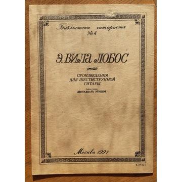 Heitor Villa-Lobos - 12 etiud na gitarę