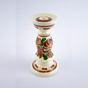 świecznik fajans