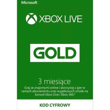 Xbox live gold 3 m-ce kod ( nie konto!)
