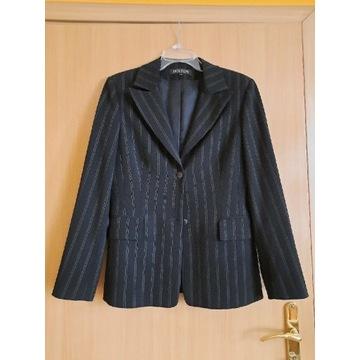 Kostium z szerokimi spodniami w prążek molton 38