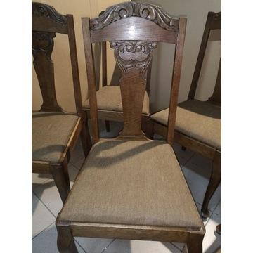 Zestaw  6 krzeseł drewnianych ludwik antyk