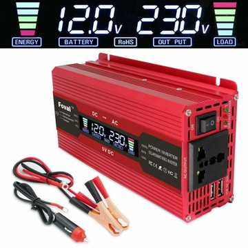 Konwerter Napięcia Akumulatora 12V 230V 6000W