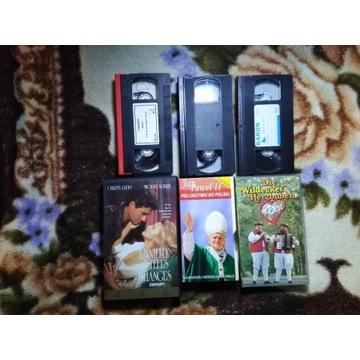 3 Kasety VHS ZMIANY, JAN PAWEŁ II, DIE WILDECKER