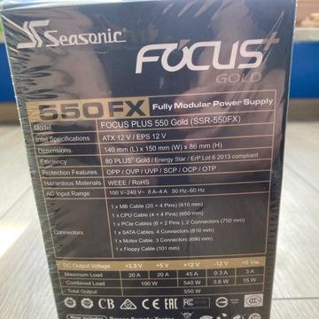 Nowy Zasilacz SeaSonic Focus Plus Gold 550W