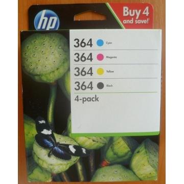 Dwa zestawy tuszy HP 364