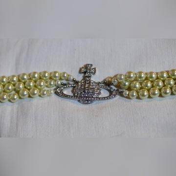 Vivenne Westwood choker z perlami