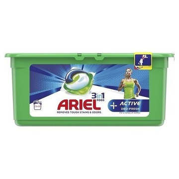 Niemieckie Ariel 32 kapsułki 3w1,  ACTIVE
