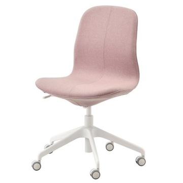 Krzesło biurowe obrotowe różowe IKEA, LANGFJALL