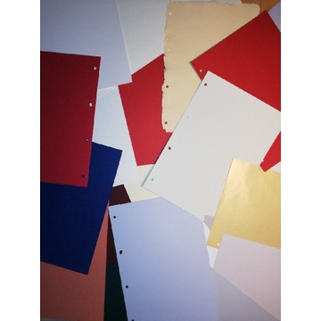 Papiery ozdobne barwione w masie wiele różnych