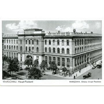 WARSCHAU. Haupt-Postamt- WARZSAWA.. okupacja GG