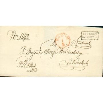 Królestwo Polskie - Radom - 1850 r. - Interes