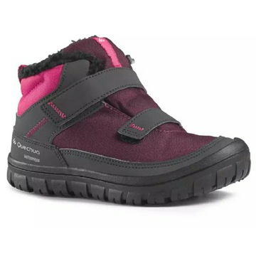 Quechua Waterproof 26 obuwie zimowe różowe