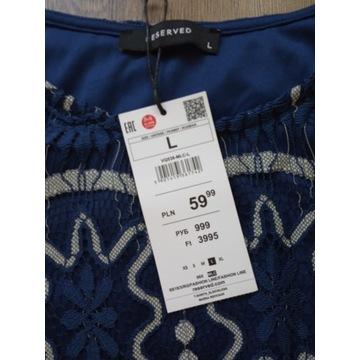 Nowa koronkowa bluzka Reserved roz. L, okazja!!!