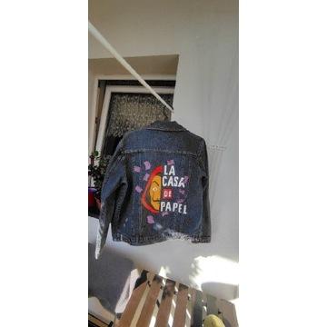 Custom/Handmade kurtka jeansowa/katana