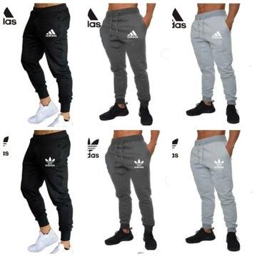 Spodnie dresowe Adidas M L XL XXL czarne szare