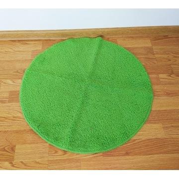 zielony okrągły dywanik łazienkowy