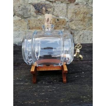 Beczułka szklana z kranikiem